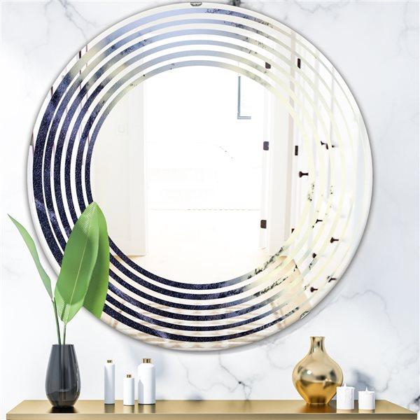 DesignArt 24-in x 24-in Moss Agate Bush Round Polished Wall Mirror