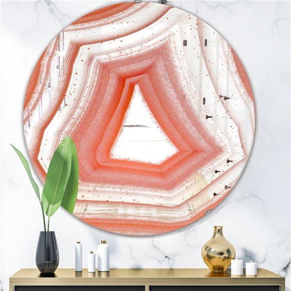 DesignArt 24-in x 24-in Geode 2 Round Polished Wall Mirror