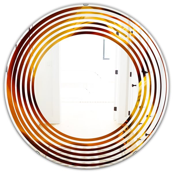 DesignArt 24-in x 24-in Agate Geode Slice Macro Round Polished Wall Mirror
