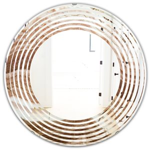 DesignArt 24-in x 24-in Crystals Minerals and Stones Round Polished Wall Mirror