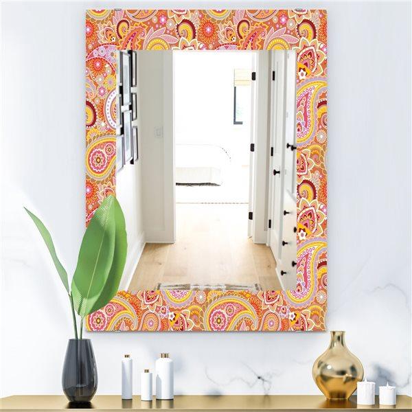 DesignArt 35.4-in x 23.6-in Paisley 2 Rectangular Mirror