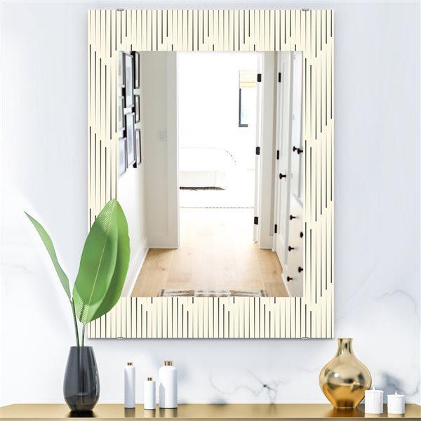 DesignArt 35.4-in x 23.6-in Scandinavian 12 Rectangular Mirror