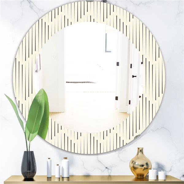 DesignArt 24-in x 24-in Scandinavian 12 Mirror