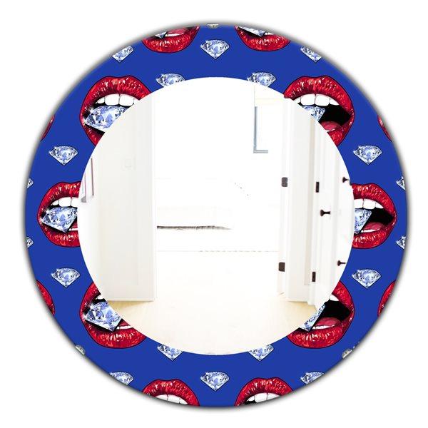 DesignArt 24-in x 24-in Hot Lips I Modern Mirror