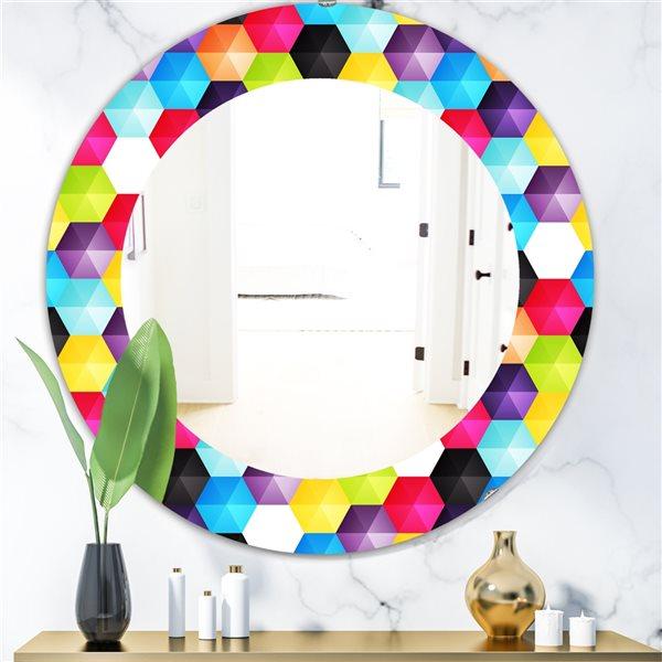 DesignArt 24-in x 24-in Capricious Colorfields 3 Modern Mirror