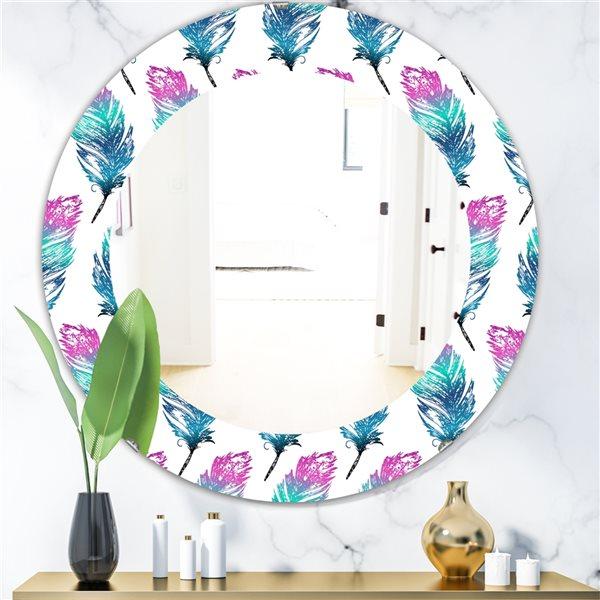 DesignArt 24-in x 24-in Feathers 16 Modern Mirror