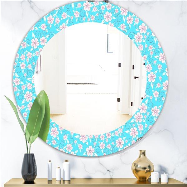 DesignArt 24-in x 24-in Flower Pattern Modern Mirror