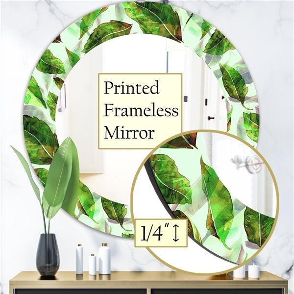DesignArt 24-in x 24-in Tropical Mood Foliage 10 Modern Mirror