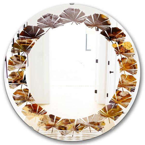 DesignArt 24-in x 24-in Sand Close Up Round Wall Mirror