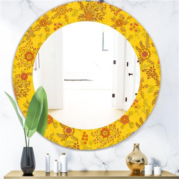 DesignArt 24-in x 24-in Yellow Moods 2 Mirror