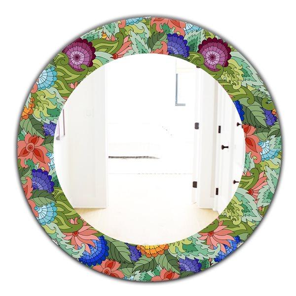 DesignArt 24-in x 24-in Tropical Mood Foliage 2 Traditional Mirror