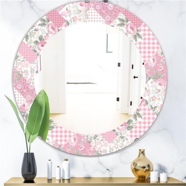 DesignArt 24-in x 24-in Floral Dew 6 Traditional Mirror