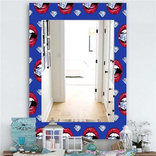 DesignArt 35.4-in x 23.6-in Hot Lips I Modern Rectangular Mirror
