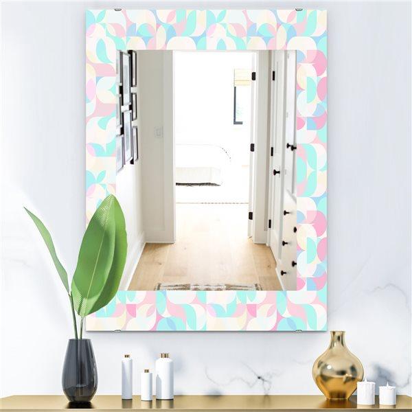 DesignArt 35.4-in x 23.6-in Pastel Dreams 2 Modern Rectangular Mirror