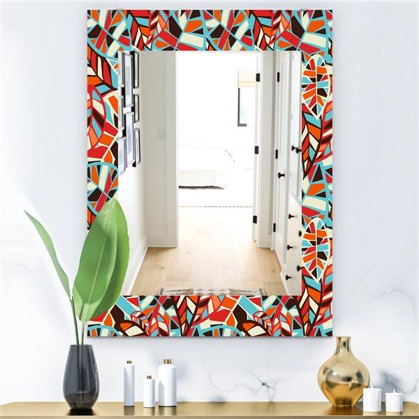 DesignArt 35.4-in x 23.6-in Feathers 4 Modern Rectangular Mirror