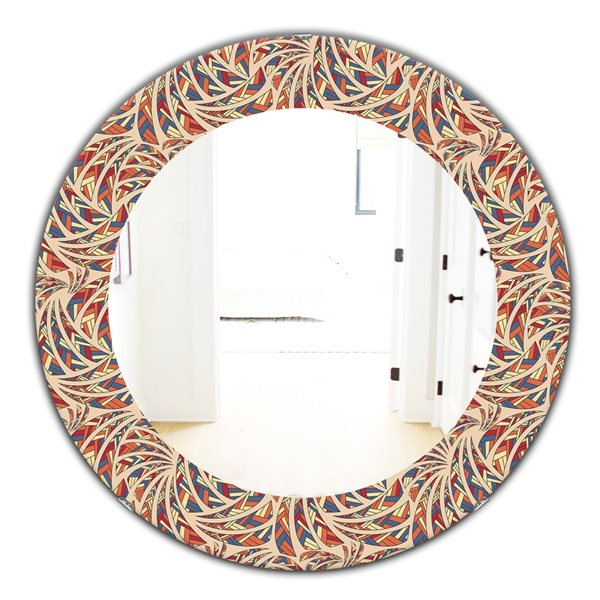 DesignArt 24-in x 24-in Ethnic Pattern Bohemian and Eclectic Mirror