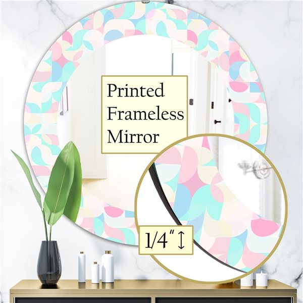DesignArt 24-in x 24-in Pastel Dreams 2 Modern Mirror