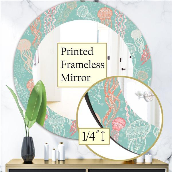 DesignArt 24-in x 24-in Costal Creatures 3 Traditional Mirror