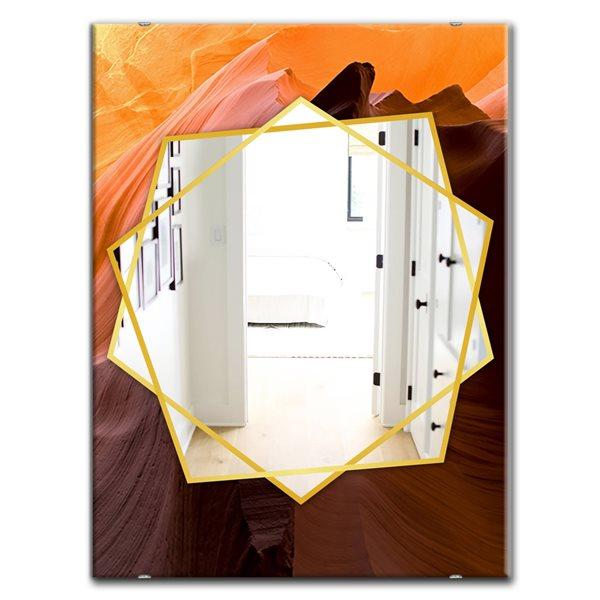 DesignArt 35.4-in x 23.6-in Antelope Canyon Traditional Rectangular Mirror