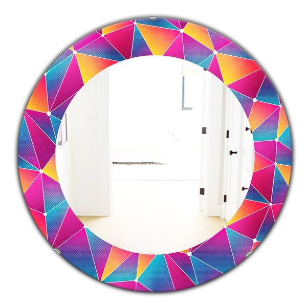 DesignArt 24-in x 24-in Bright Triangle With Grunge Effect Modern Mirror