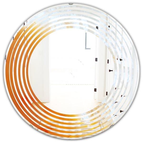 DesignArt 24-in x 24-in True Yellow Stone Modern Wall Mirror