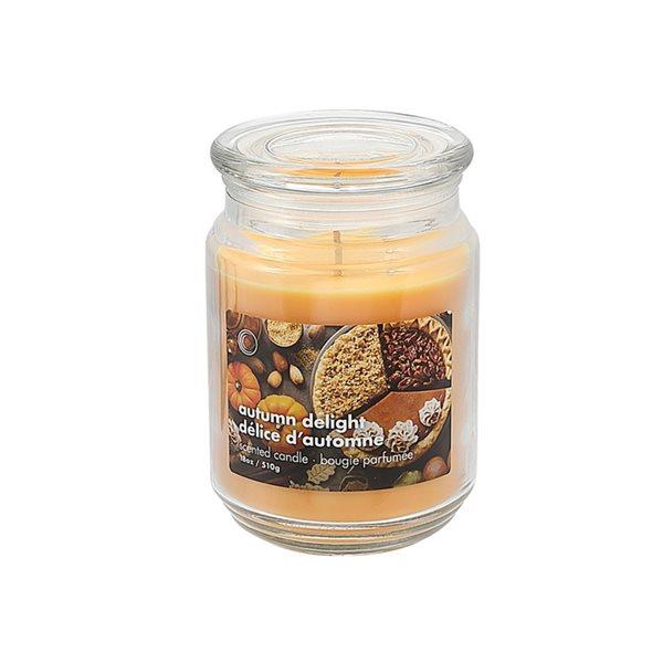 Bougie parfumée en pot de 18 oz d'IH Casa Decor, senteur délice d'automne, ens. de 2