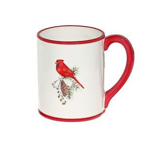 Ensemble de 2 tasses en céramique par IH Casa Decor rouges et blanches