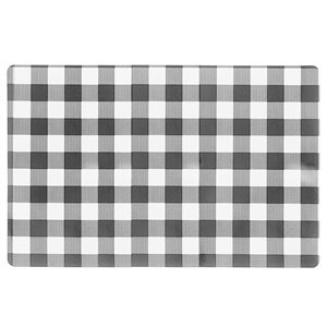 IH Casa Decor Black Buffalo Plaid Plastic Rectangle Placemats - 12-Pack