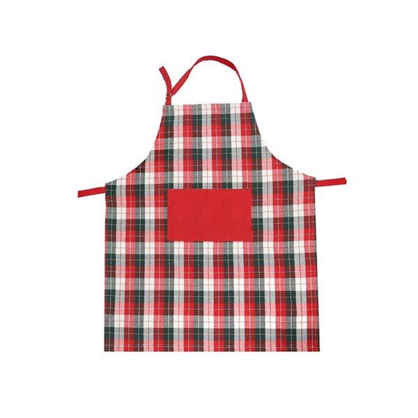 Tablier en coton avec poche d'IH Casa Decor, imprimé Magie de Noël