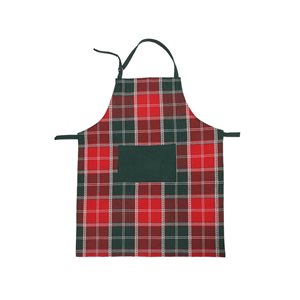 IH Casa Decor Holly Berries Print Cotton Apron with Pocket