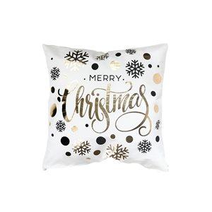 Coussin blanc et doré d'IH Casa Decor, Merry Christmas, ens. de 2