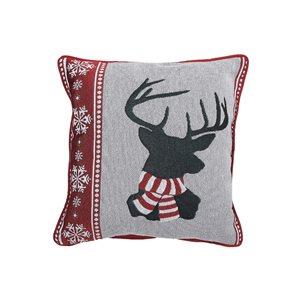 Coussin en tapisserie d'IH Casa Decor, tête de renne, ens. de 2