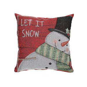 Coussin rouge Let it snow d'IH Casa Decor, ens. de 2