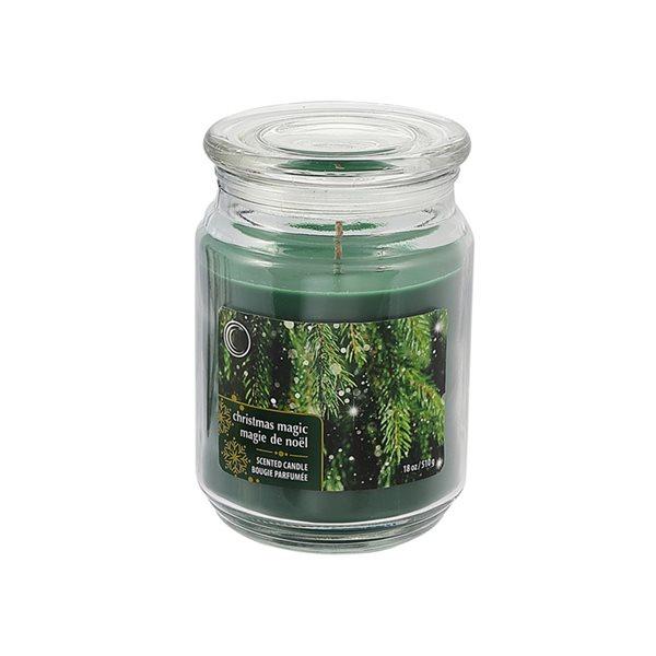 Bougie parfumée en pot de 18 oz d'IH Casa Decor, senteur magie de Noël, ens. de 2