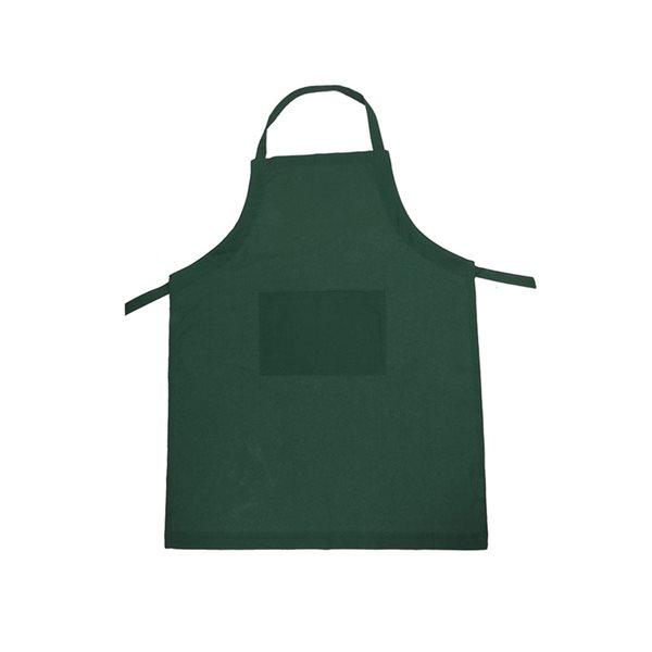 Tablier en polycoton vert avec pochette d'IH Casa Decor