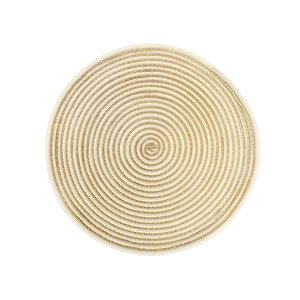 IH Casa Decor Woven Gold Shimmer Round Placemats - 12-Pack