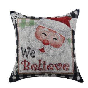 Coussin We believe d'IH Casa Decor, motif du Père Noël, ens. de 2