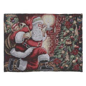 Napperons tissés rectangulaires IH Casa Decor avec père Noël sur la pointe des pieds, ens. de 12
