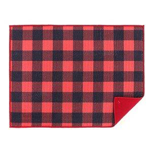 Tapis de séchage en microfibre 20 po x 15 po de IH Casa Decor, noir et rouge