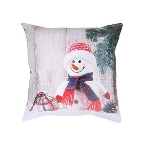 Coussin avec imprimé de bonhomme de neige d'IH Casa Decor, ens. de 2