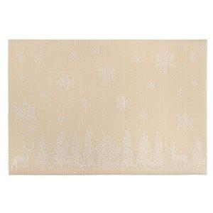 Napperons en vinyle rectangulaires IH Casa Decor, forêt d'hiver dorée, ens. de 12