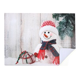 Tapis de séchage en microfibre 20 po x 15 po de IH Casa Decor, bonhomme de neige