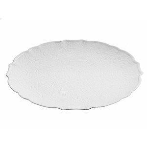 Assiettes de service rondes et blanches d'IH Casa Decor de 13 po, ens. de 6