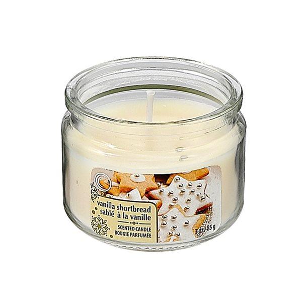 Bougie parfumée en pot de 3 oz d'IH Casa Decor, senteur sablé à la vanille, ens. de 4