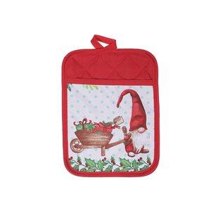 Sous-plats avec pochette d'IH Casa Decor, imprimé gnome avec cadeaux, ens. de 4
