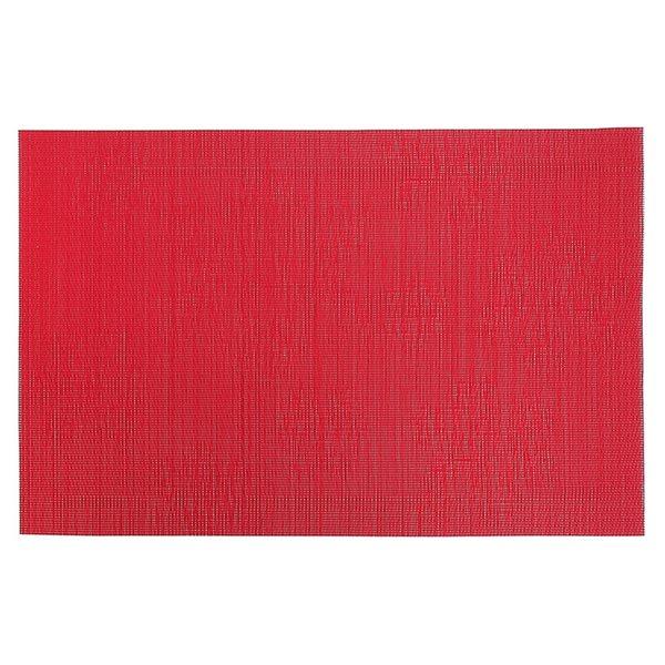Napperons en vinyle rectangulaires IH Casa Decor avec flocons de neige, rouge, ens. de 12