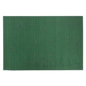 Napperons en vinyle rectangulaires IH Casa Decor, forêt d'hiver verte, ens. de 12