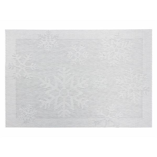 Napperons en vinyle rectangulaires IH Casa Decor, flocons de neige argentés, ens. de 12