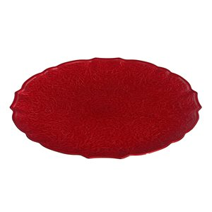 Assiettes de service rondes et rouges d'IH Casa Decor de 13 po, ens. de 6