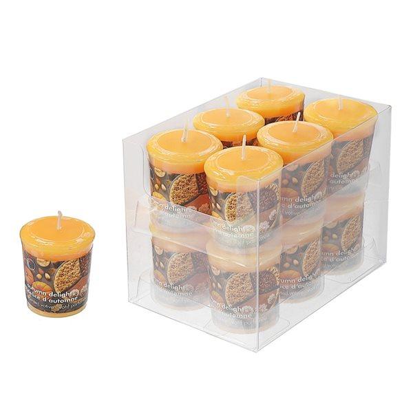 Bougie parfumée décorative d'IH Casa Decor, senteur délice d'automne, ens. de 12